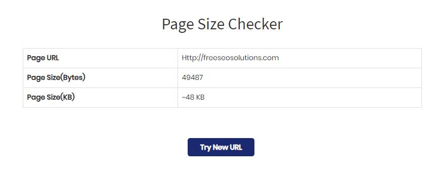 Page Size Checker
